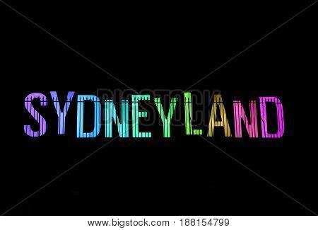 Sydneyland During Vivid Sydney