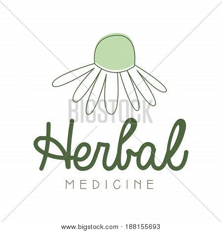 Herbal medicine logo symbol vector Illustration for business emblem, alternative medicine, homeopathy, holistic medicine center