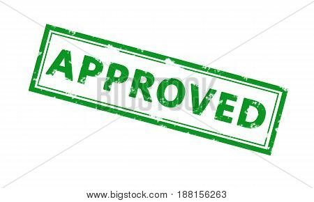 Approved Grunge Rubber Office Stamp.  Business, Technology, Internet Concept. Stock Photo