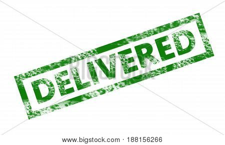 Delivered Writing In A  Rectangular Stamp. Business, Technology, Internet Concept. Stock Photo