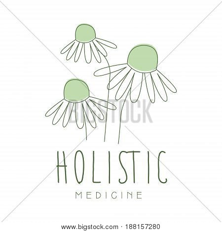 Holistic medicine logo symbol vector Illustration for business emblem, alternative medicine, homeopathy, herbal medicine center