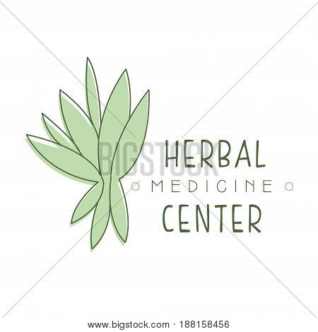 Herbal medicine center logo symbol vector Illustration for business emblem, alternative medicine, yoga studio, holistic or ayurveda medicine center