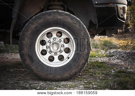 Close-up Photo Of Suv Car Wheel