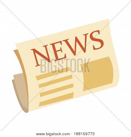 News icon modern flat newspaper icon isolated on white background, yellow press icon