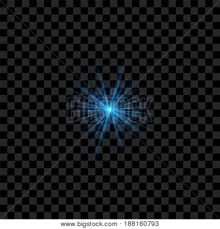 Blue realistic vector Flash with Rays and Glowing