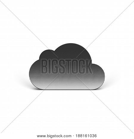 Realistic Cloud vector Icon for Data Storage Business