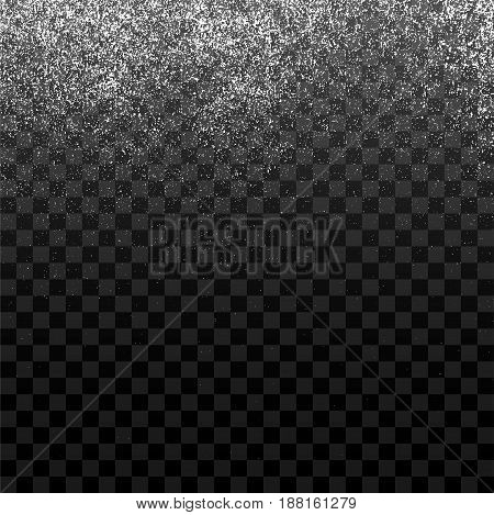 Dusty Grain or Snow Particles Texture for Your Design. Realistic grunge Effect