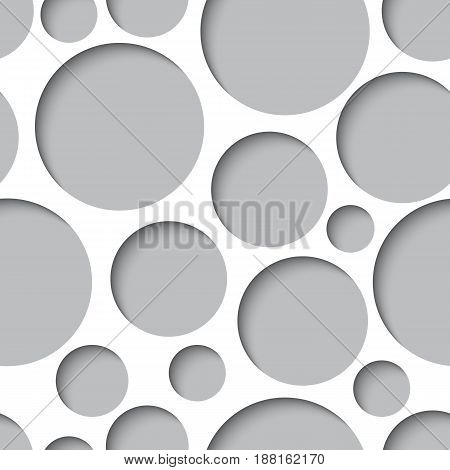 Seamless texture - paper cut circles. Background for web bunner cards e-mail etc.