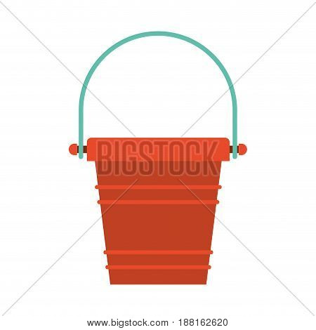 color silhouette of toy bucket beach kit vector illustration