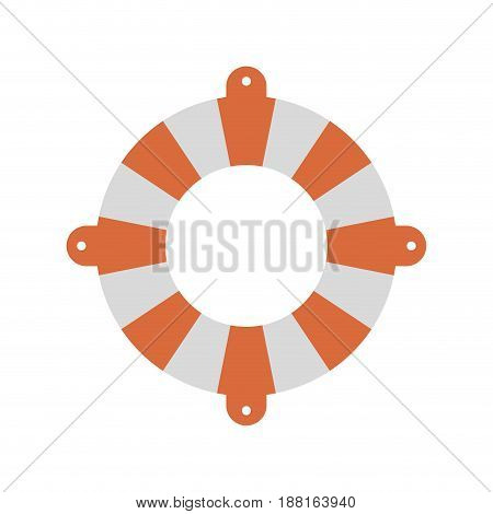 color silhouette of flotation hoop vector illustration