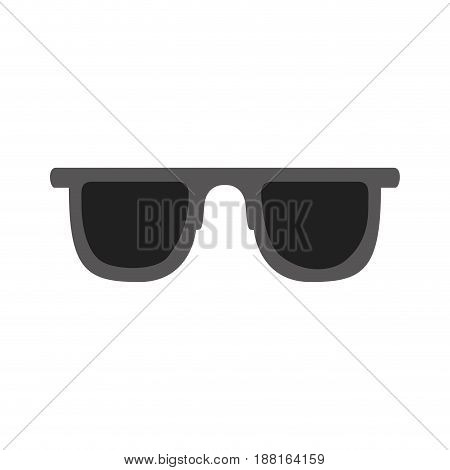 color silhouette of sunglasses icon vector illustration