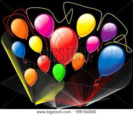 color balloons. balloon background, balloon art, balloon basket