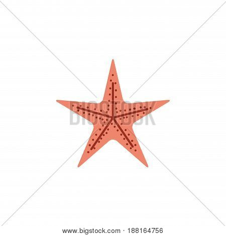 color silhouette of sea starfish vector illustration