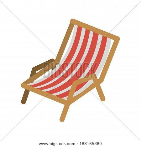 color silhouette of beach chair vector illustration