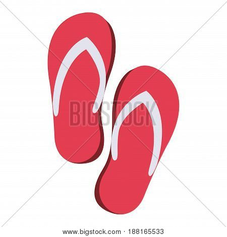 color silhouette of beach flip-flops vector illustration