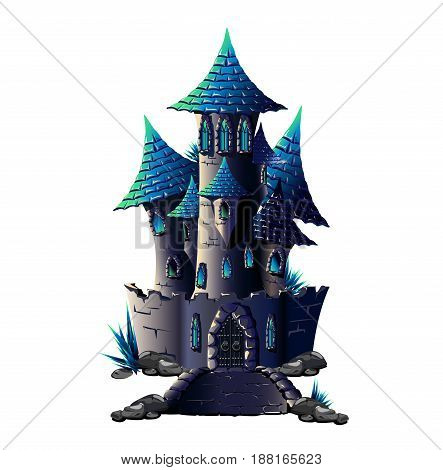 Dark Castle is insulated on white background