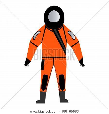 wetsuit lifeguard rescuer vector illustration isolated on white background