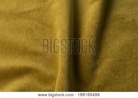 Golden Velour Fabric Background, Velvet,mohair,cashmere Effect.