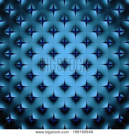 Abstract blue geometrical background. 3 D rendering