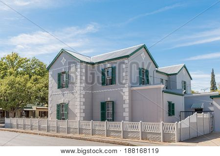 ROBERTSON SOUTH AFRICA - MARCH 26 2017: An historic old house in Robertson a town on the scenic Route 62 in the Western Cape Province