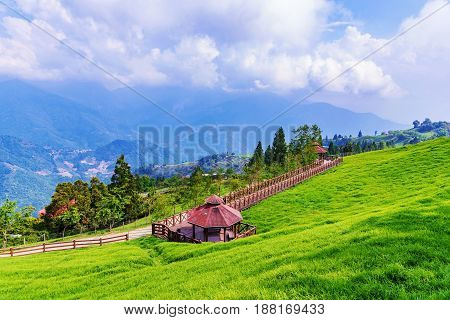 Scenic view of Qingjing farm in Nantou Taiwan