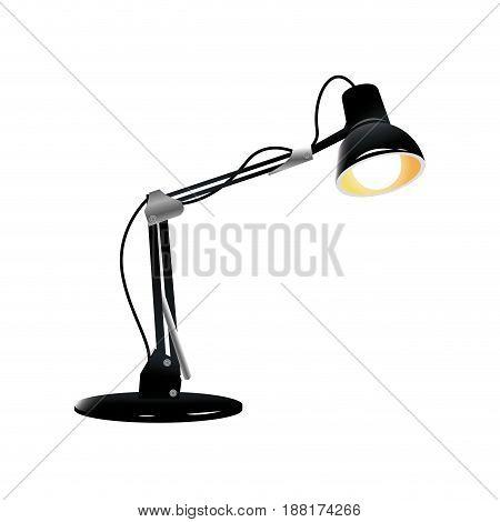 desk lamp light bulb electric device image vector illustration