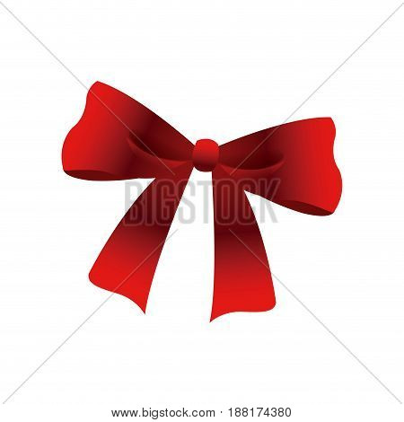 bow and ribbons. decoration element for design vector illustration.