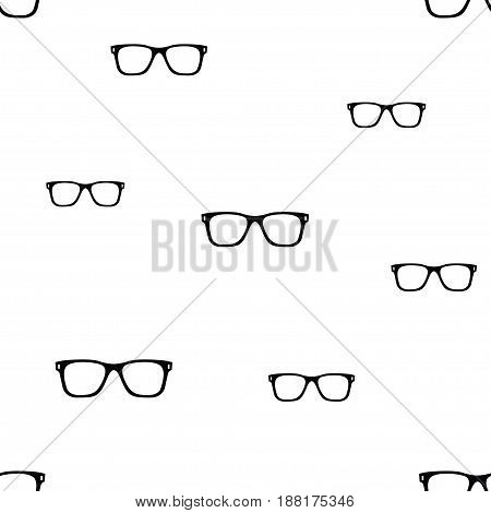 glasses seamless pattern. Isolated elements on white background