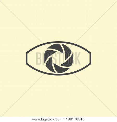 Photography logo design eye. Digital eye logotype