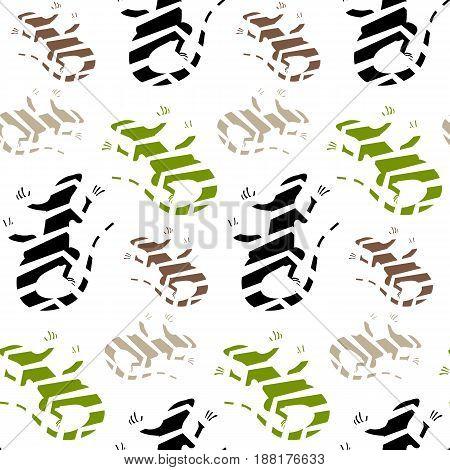 Vector flat illustration , Lizard. Abstract illustration. Animal.