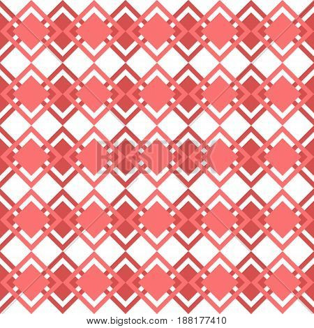 simple seamless pattern of red squares vector illustration.