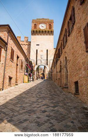 GRADARA, ITALY - 12.04.2017: Castelllo di Gradara the Gradara castle in Gradara Italy