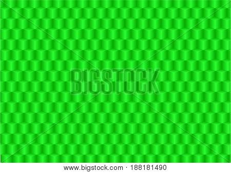 Green background consisting of geometric shapes with a gradient fill