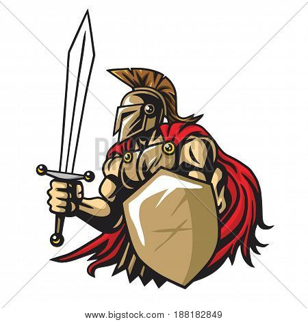 Spartan Warrior Vector Mascot Design Illustration Design