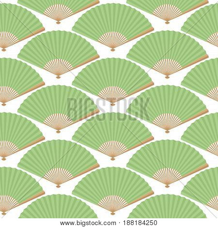 Seamless Background From The Japanese Fans. Pattern