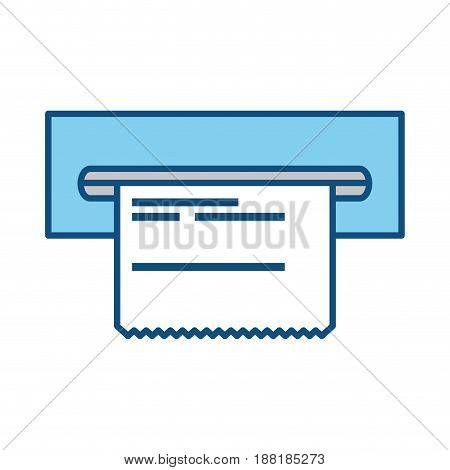 electronic cashier bank with receipt, vector illustration design
