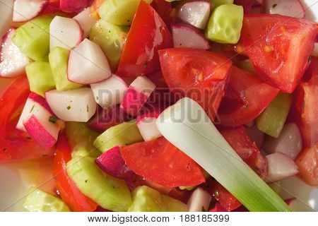 Fresh nutritious vegetable salad, waiting for someone to eat it