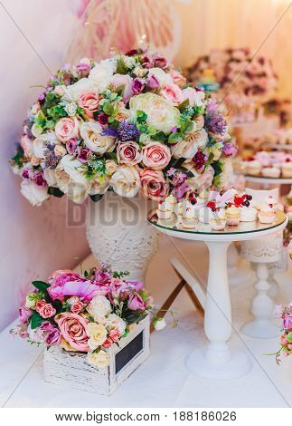 Bouquet of flowers Wedding decoration hand made