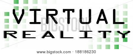 Virtual Reality Word conceptual Illustration. VR text isolated flat vector. Transparent.