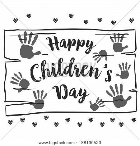 Collection hand draw children day background vector art