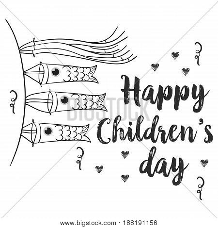 Hand draw children day style collection vector art