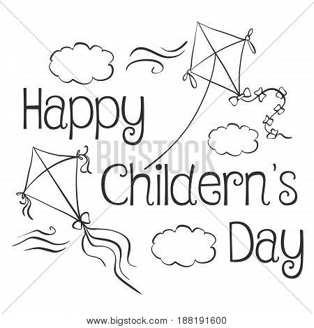 Style design children day doodle vector illustration