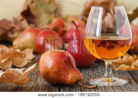 Composition With Traditional Fruit Brandy And Pears