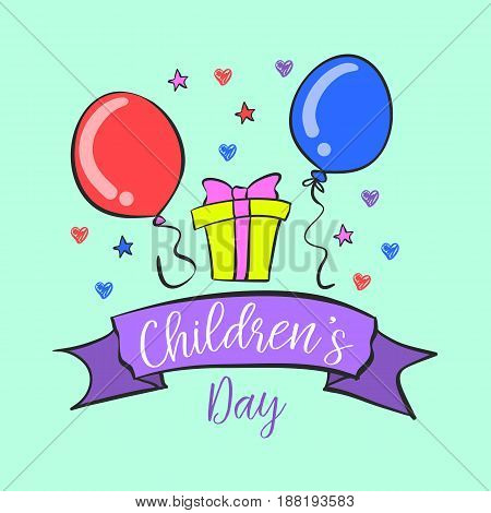 Children day design collection doodles vector illustration