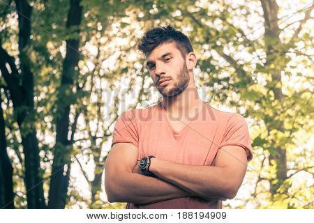 One Young Man, Arms Crossed, Upper Body,