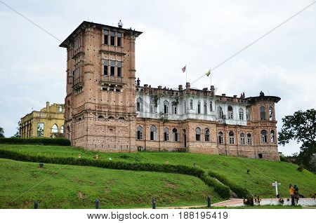 IPOH, MALAYSIA- 29 DEC, 2016: Kellie's Castle is a castle located in Batu Gajah, Malaysia. The unfinished, ruined mansion, was built by a Scottish planter named William Kellie Smith