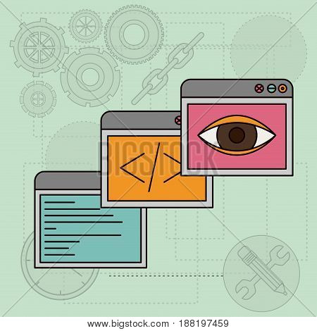background with windows apps for design vector illustration
