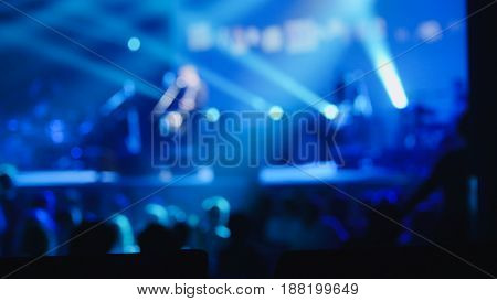 Abstract blurred. Rock concert in night club