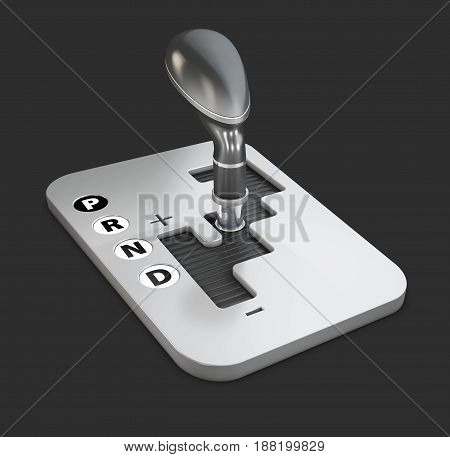 3D Illustration Of Vehicle Gear Stick, Automatic Transmission.