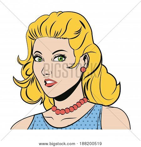 beautiful woman in the comics style. vector illustration.